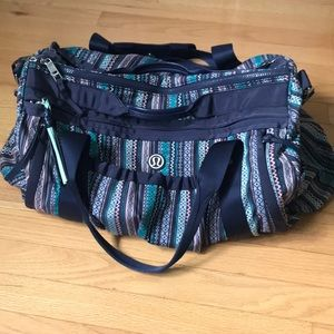 Lululemon patterned Gym Bag